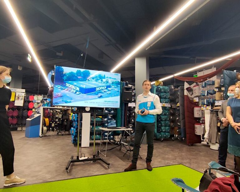 Французька мережа спортивних товарів Decathlon відкрила новий флагманський магазин у Києві